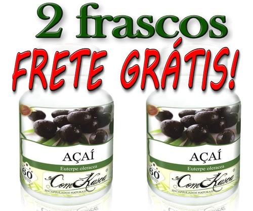 Kit 2 Frascos De Açaí 60 Cáps 500mg (puro)