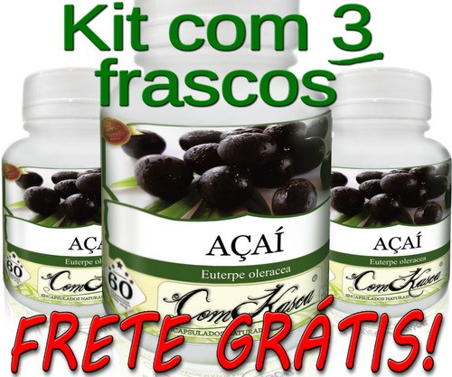 Kit 3 Frascos De Açaí