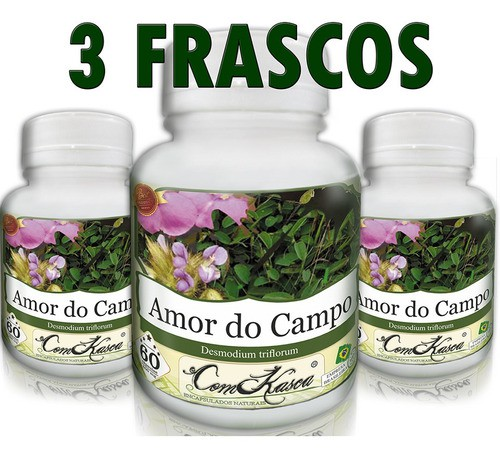 Kit 3 Frascos De Amor Do Campo 60 Caps