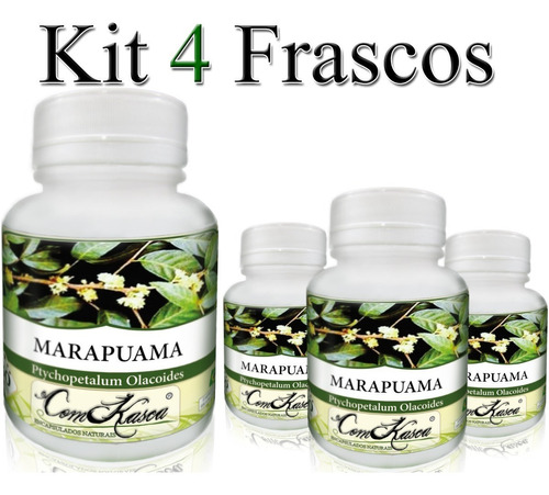 Marapuama - 4 potes com 60 cápsulas