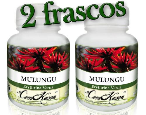 Mulungu - 2 potes de 60 cápsulas