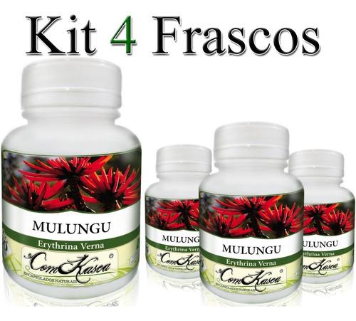 Mulungu - 4 potes de 60 cápsulas