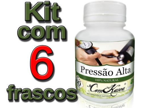 Pressão Alta - 6 potes com 60 cápsulas