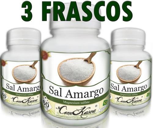 Sal Amargo - 3 potes de 60 cápsulas