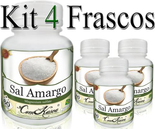 Sal Amargo - 4 potes de 60 cápsulas