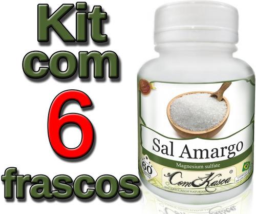 Sal Amargo - 6 potes de 60 cápsulas