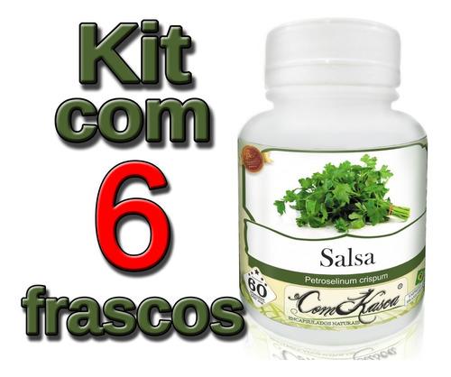 Salsa - 6 potes de 60 cápsulas