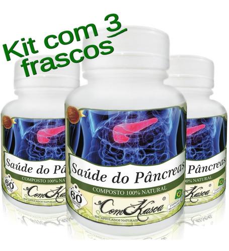Saúde do Pâncreas - 3 potes de 60 cápsulas