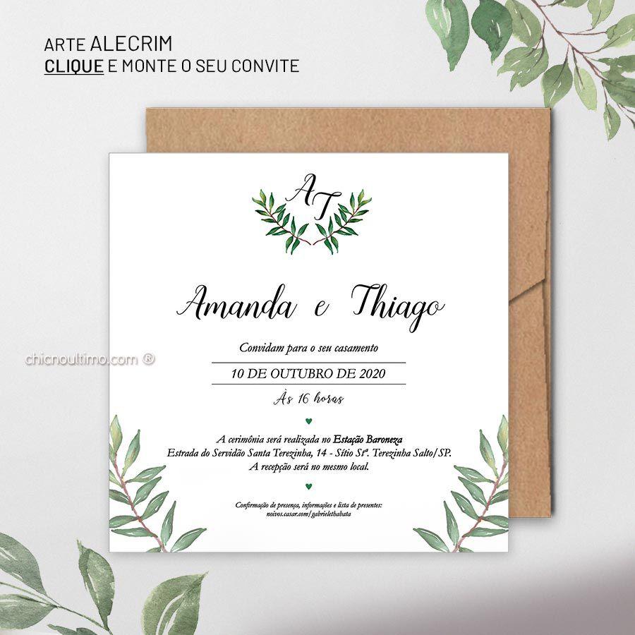 Alecrim | convite base
