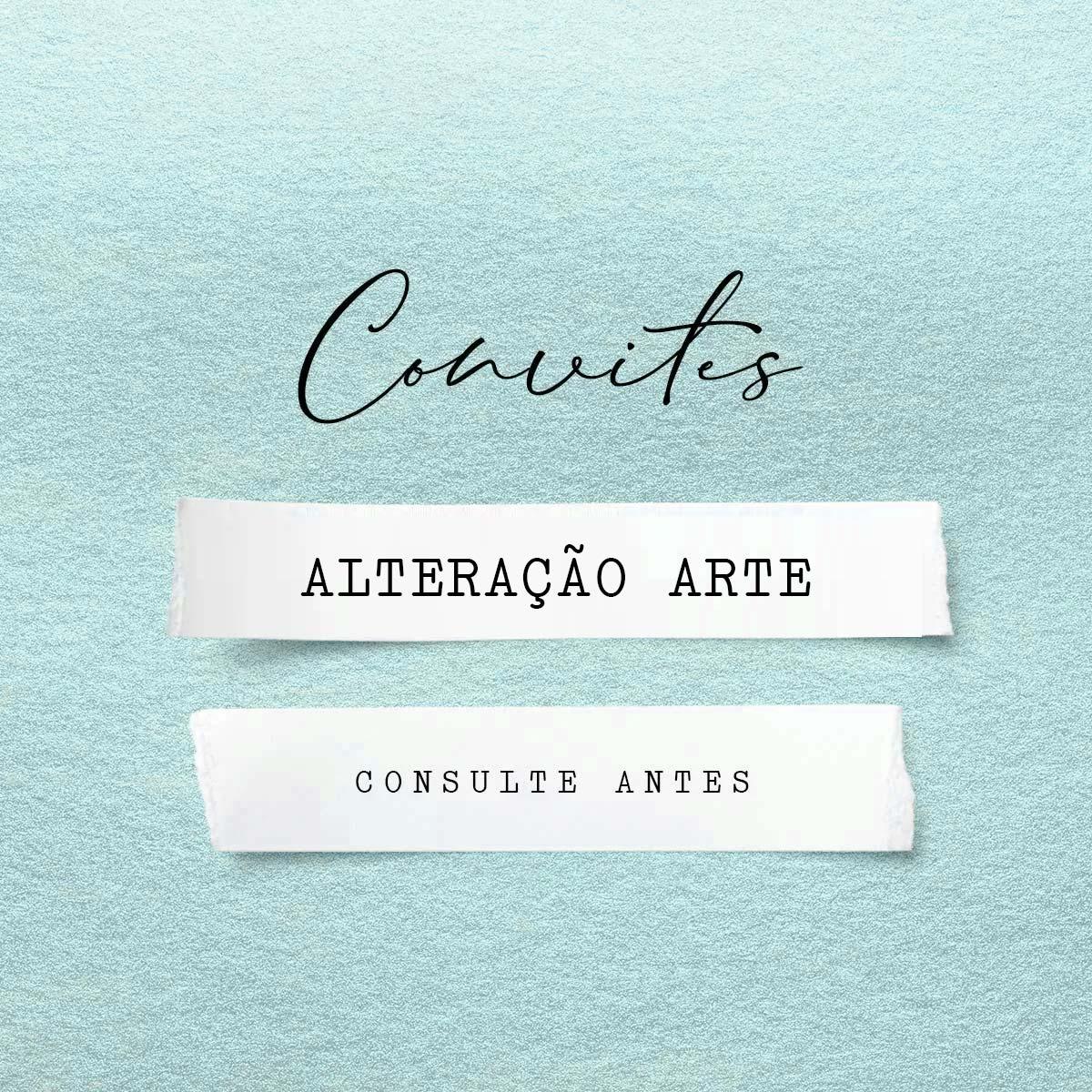 Alteração arte convite   Arte