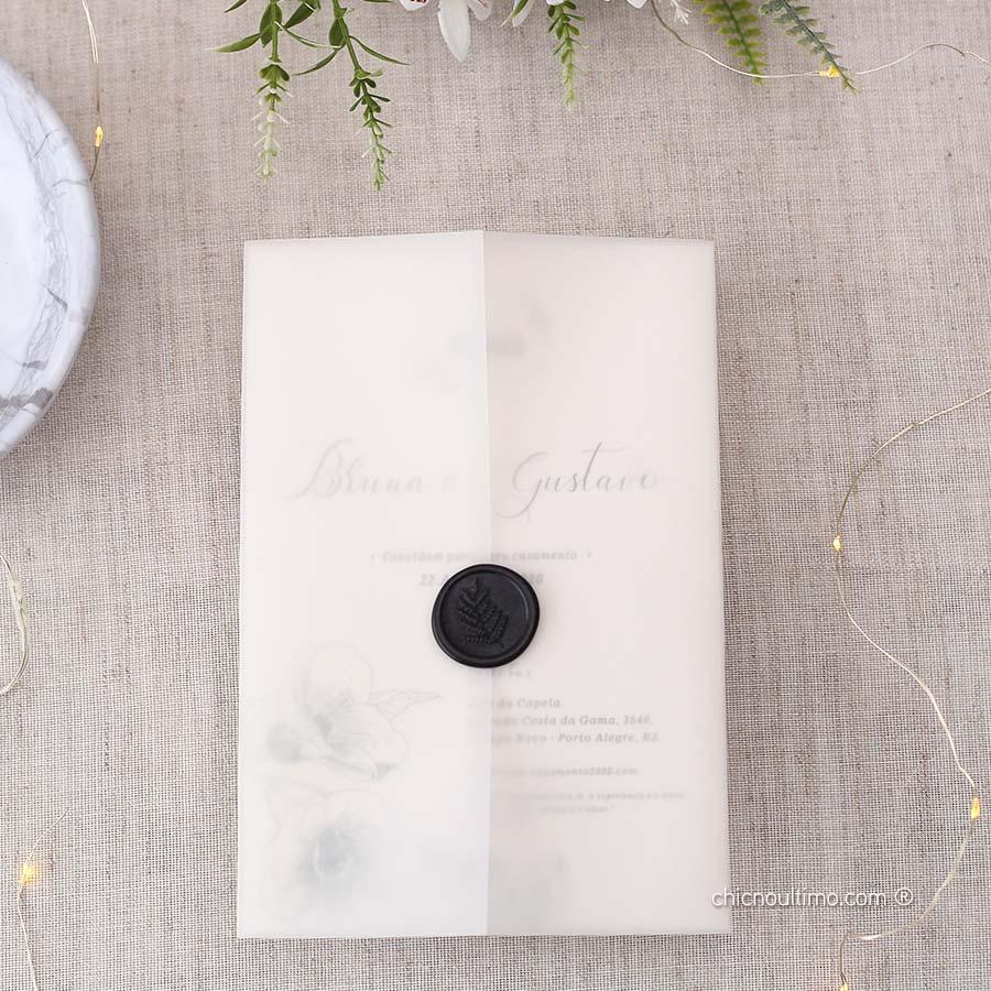 Blanc Translúcido - Convite Completo