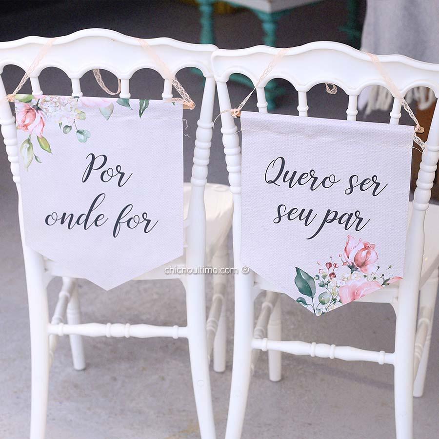 Blush - Flâmula de tecido cadeira noivos