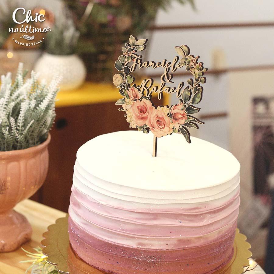 Blush - Topo de bolo estampado