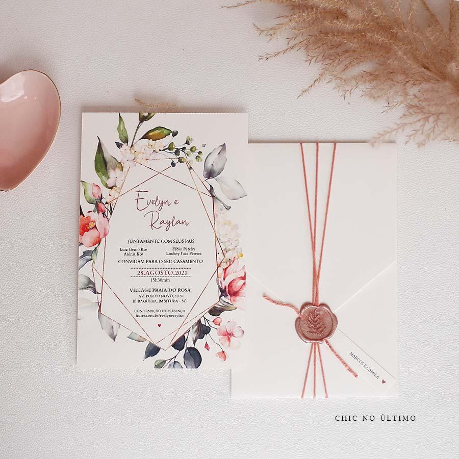 Blush Vertical - Convite Pronto