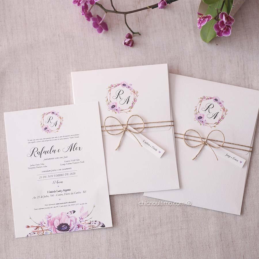 Boho Lilac - Convite Completo