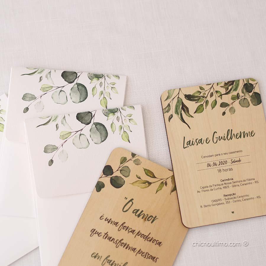 Botânica - Convite de Madeira Quadro