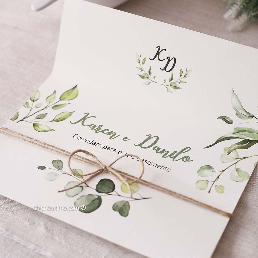 Botânica Light  | envelopado | convite pronto