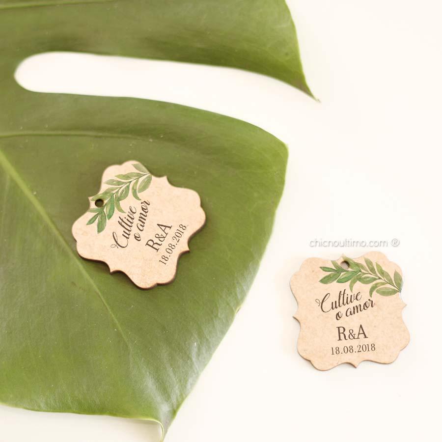 Botânica - Pingente madeira - personalizado