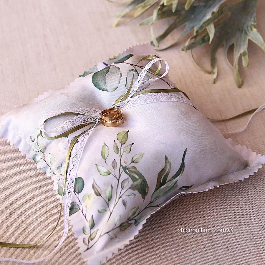 Botânica - Porta Alianças de tecido