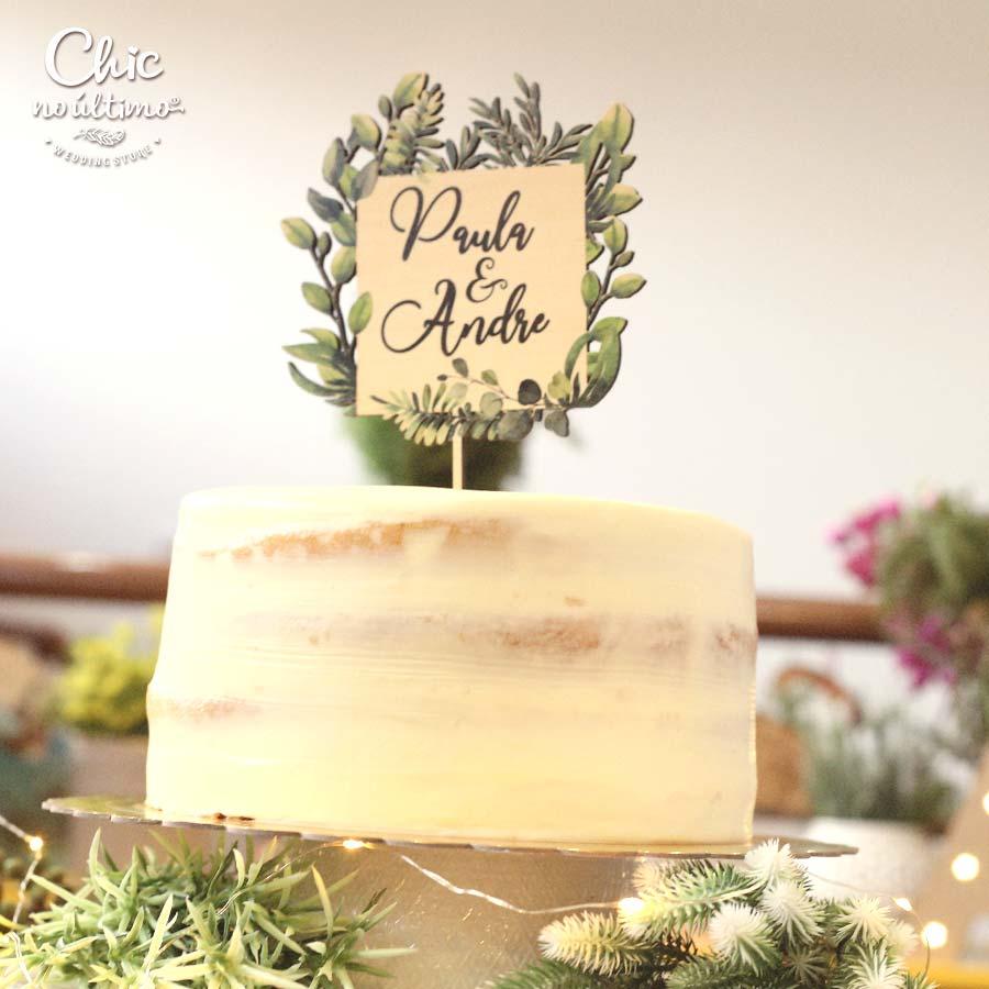 Botânica - Topo de bolo estampado