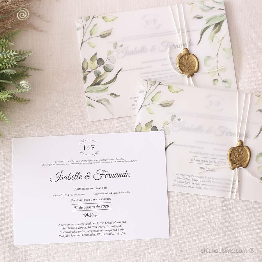 Botânica Translúcido - Convite Completo