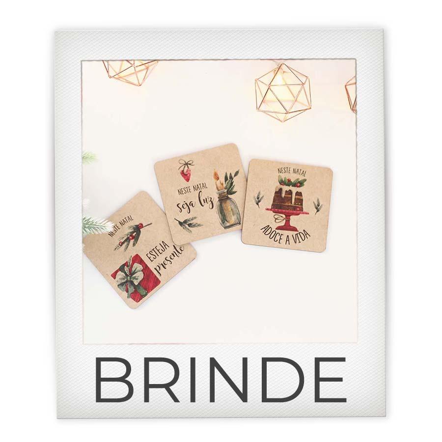 Brinde Kit 3 Porta Copos Natal