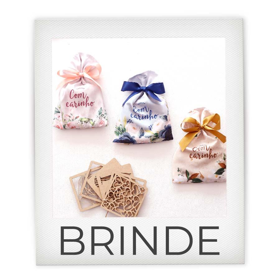 BRINDE kit com 3 Saquinhos  + kit porta copos
