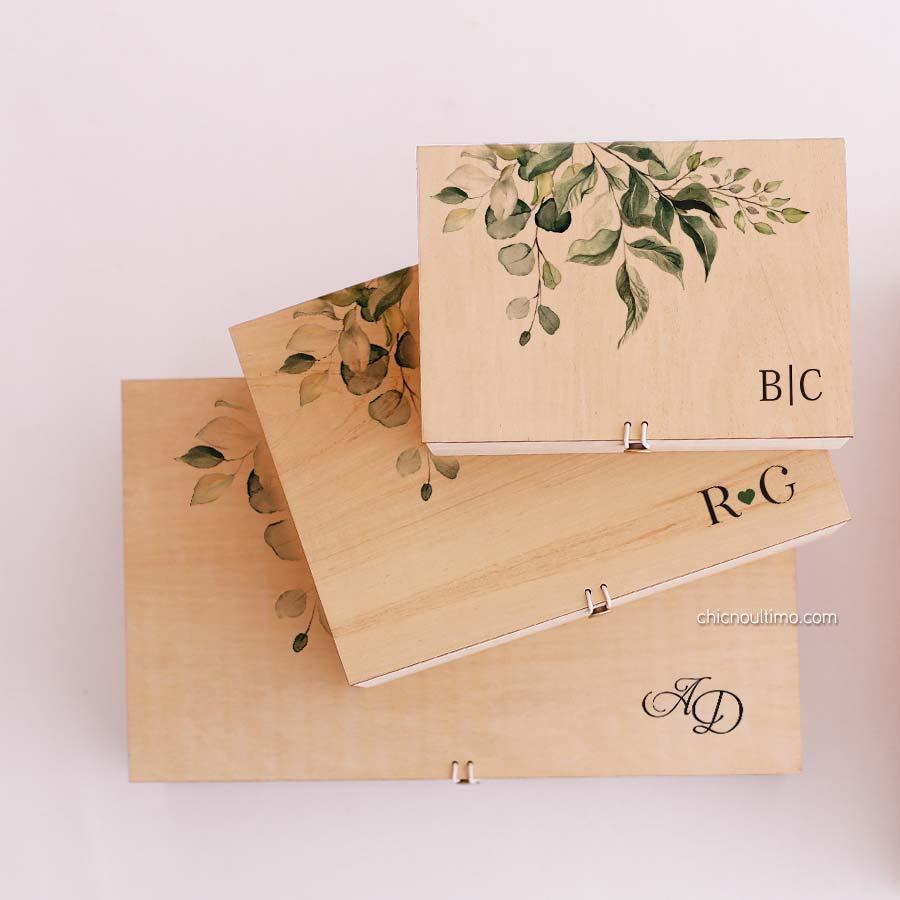 Caixa de madeira Botânica - tamanhos variados