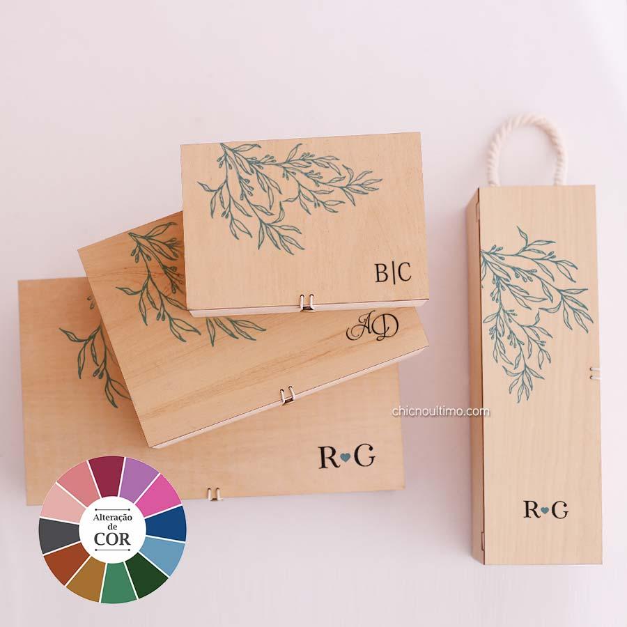 Caixa de madeira Fineline - tamanhos variados