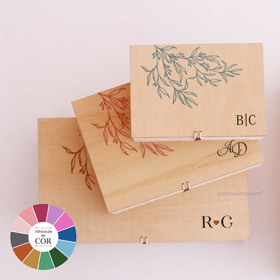 Caixa de madeira Classic - tamanhos variados