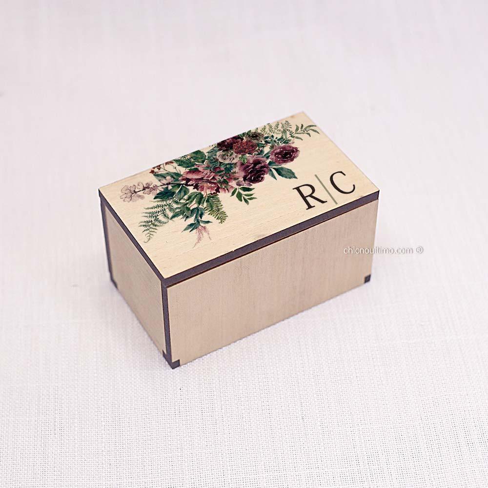 Caixa de madeira Mini 5x8cm - Estampas diversas