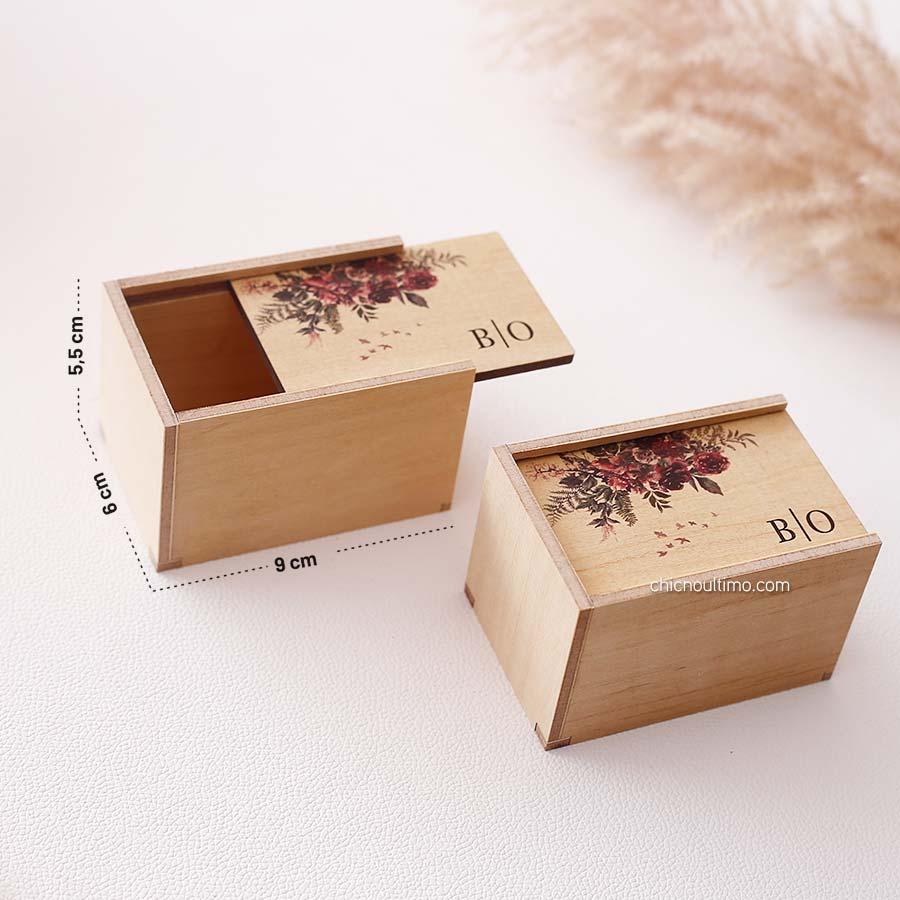 Caixa de madeira Mini 6x9cm - Estampas diversas