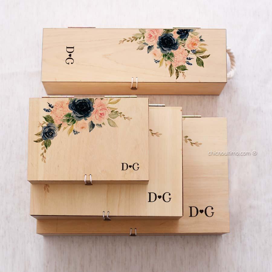 Caixa de madeira Navy - tamanhos variados