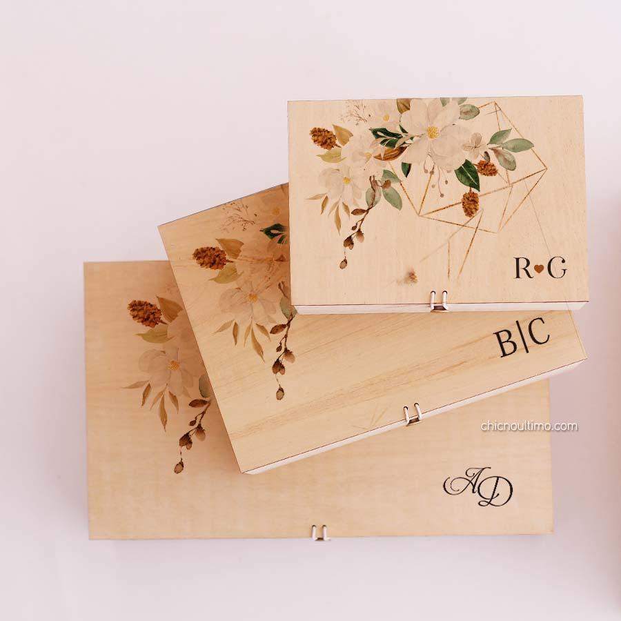 Caixa de madeira Terracota - tamanhos variados