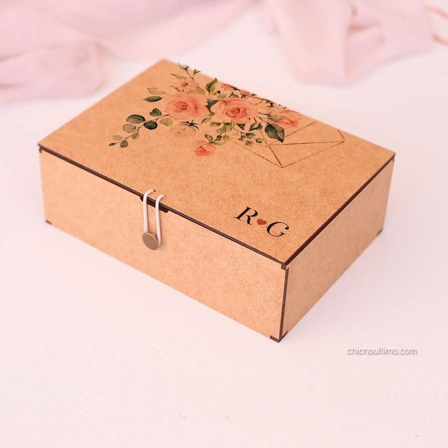 Caixa de mdf Blush - tamanhos variados