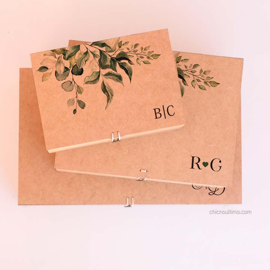 Caixa de mdf Botânica - tamanhos variados