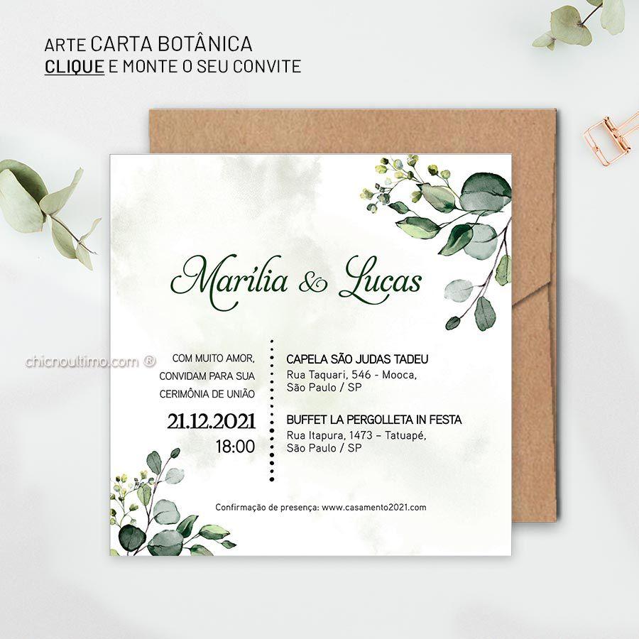 Carta Botânica - Convite para montar
