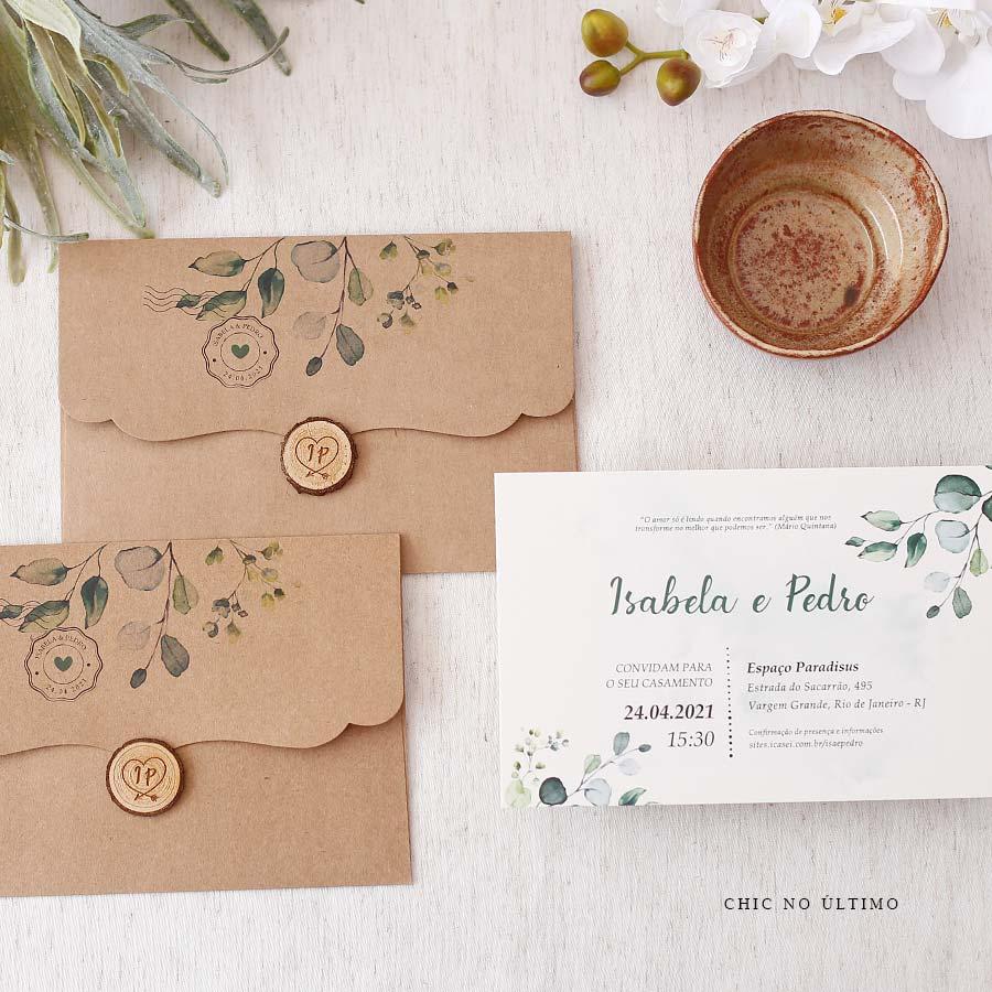 Carta Botânica - Convite Pronto