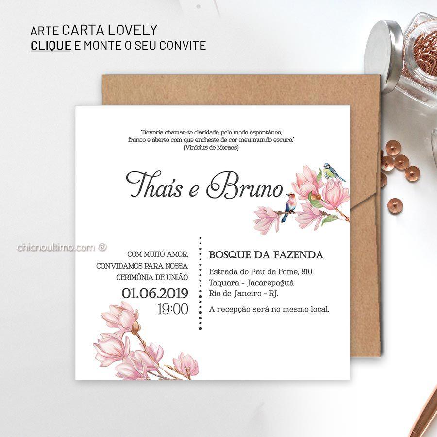 Carta Lovely - Convite para montar