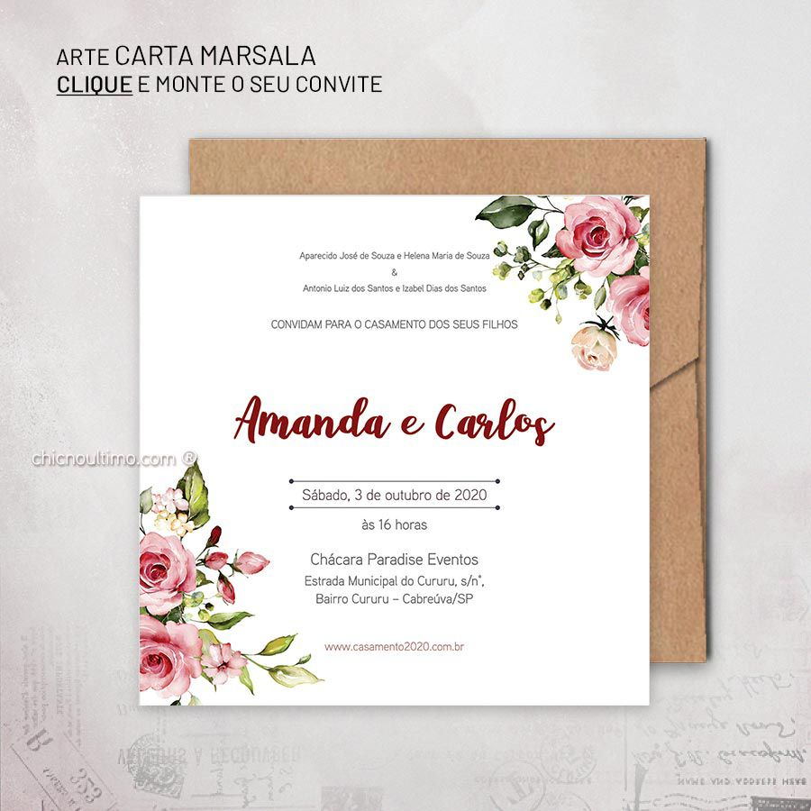 Carta Marsala - Convite para montar