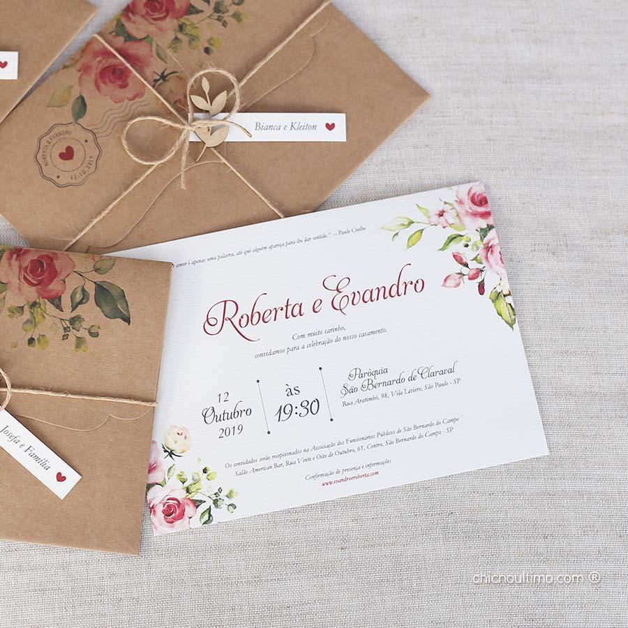 Carta Marsala - Convite Completo