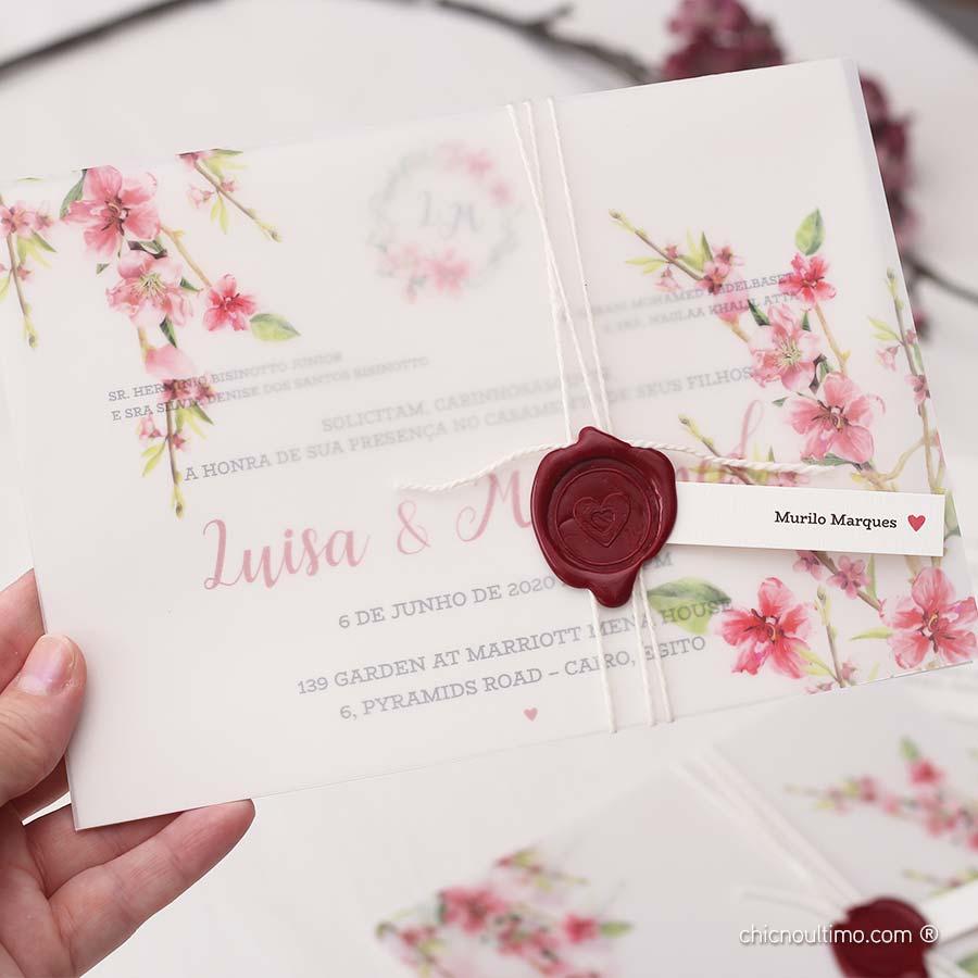 Cerejeira Translúcido - Convite Completo