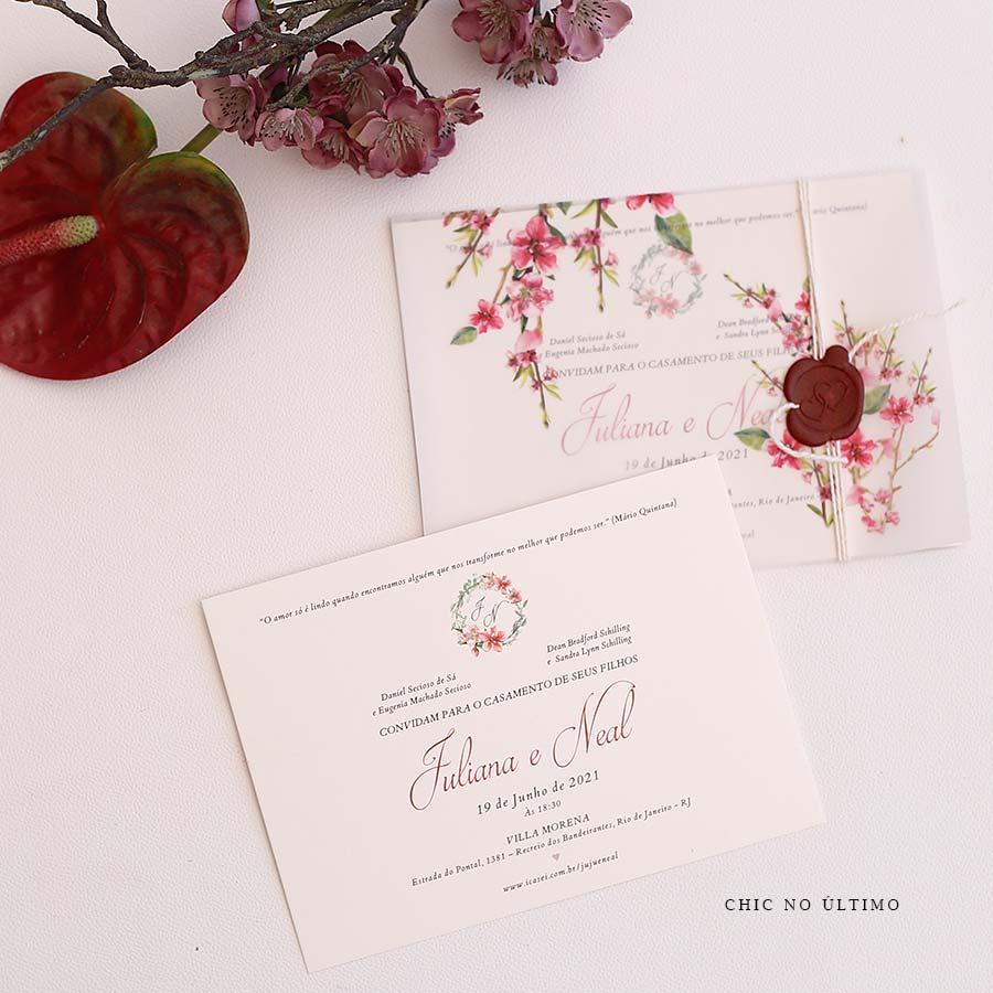 Cerejeira Translúcido - Convite Pronto