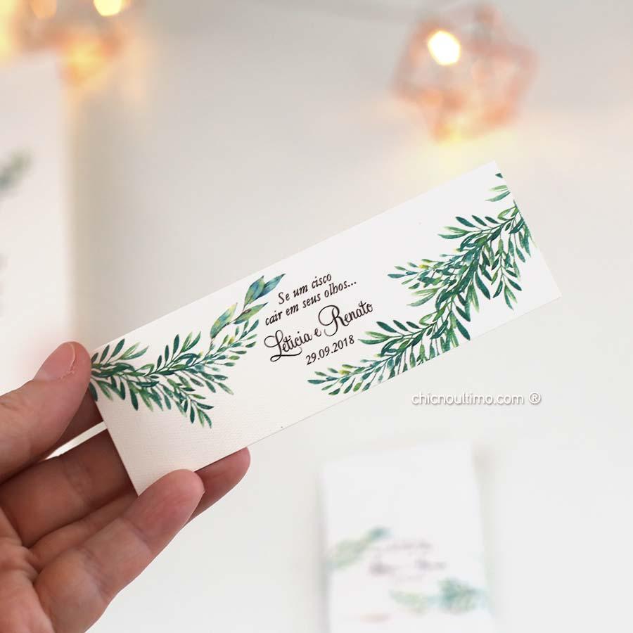 Cinta para Lágrimas de alegria - papelaria exclusiva dos convites