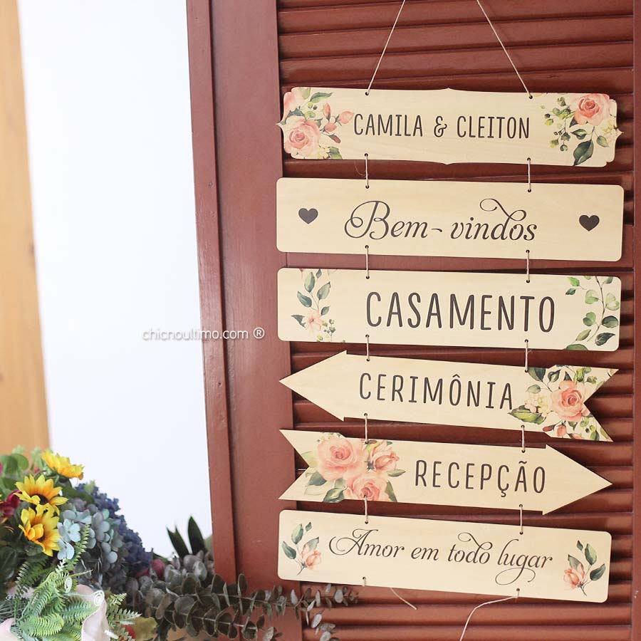 Conjunto de Placas Indicativas - Blush
