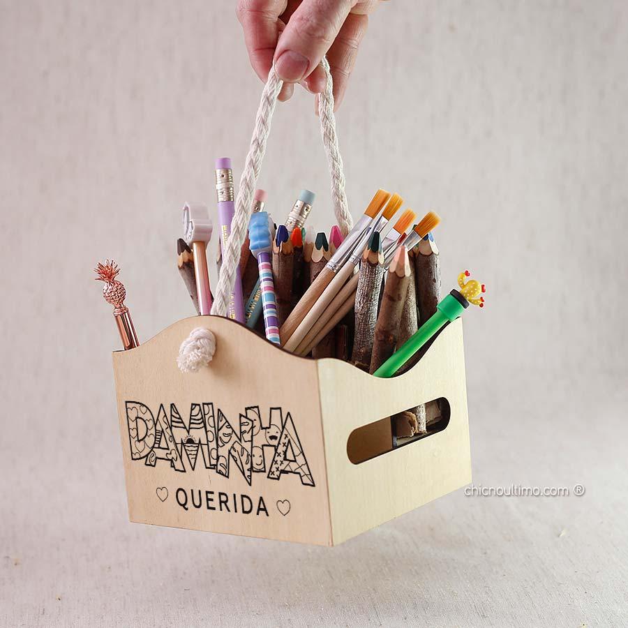 Engradado de madeira 14x14cm | KIDS | Daminha