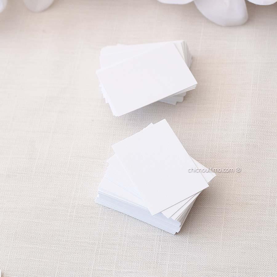 Tag de papel branco - kit 50 unidades