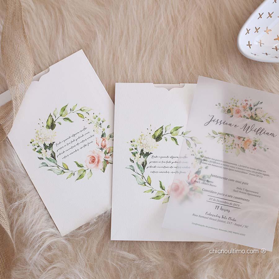 Roses Blush - Convite Completo