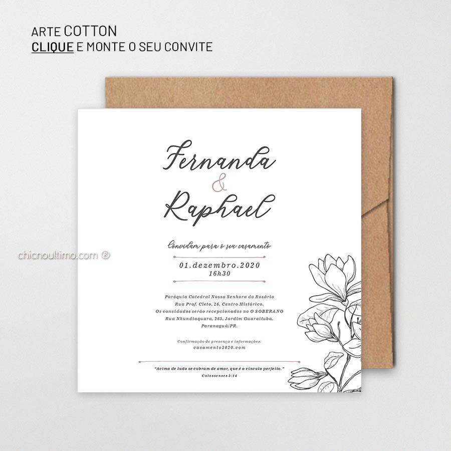 Cotton - Convite para montar