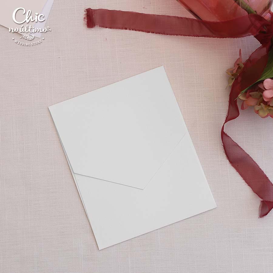 Envelope Branco - Geométrico M 16,3x20cm